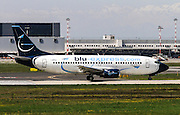 Blu-Express Boeing 737-31S. Photographed at Linate airport, Milan, Italy