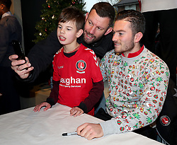 Lewis Page signs autographs in the club shop