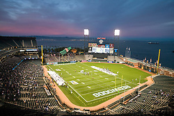 October 17, 2009; San Francisco, CA, USA;  Aerial view of AT&T park during the first quarter of a UFL game between the California Redwoods and the New York Sentinels. California won 24-7.