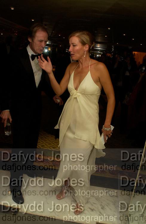 Emma thompson and Bill Nighy, 24th London Film Critics Circle Awards in aid of the NSPCC , ( AlFS) the Dorchester, 11 February 2004. © Copyright Photograph by Dafydd Jones 66 Stockwell Park Rd. London SW9 0DA Tel 020 7733 0108 www.dafjones.com