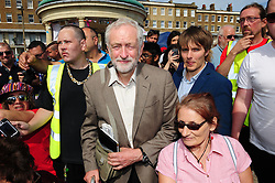 © Licensed to London News Pictures. 03/09/2016<br /> The Bandstand ,Wellington Crescent,Ramsgate,Kent.<br /> <br /> Labour Leader Jeremy Corbyn talking at a rally organised by Momentum Thanet.    Rally called    Another Thanet is possible.<br /> <br /> <br /> <br /> (Byline:Grant Falvey/LNP)