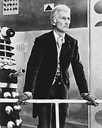 Still from the film 'Day of the Daleks' c1967. Peter Cushing, British actor, as Dr Who.