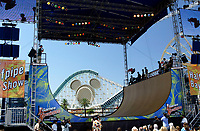 Jul 01, 2003; Anaheim, California, USA; Professional Skateboarder MIKE CRUM extreme sports athlete performs live at Disney's California Adventure &quot;X Games Experience&quot;.  Disney park has built two X-Arena's specifically for this 41 day event highlighting extreme sports for the launch of the 2003 ESPN X Games.<br />