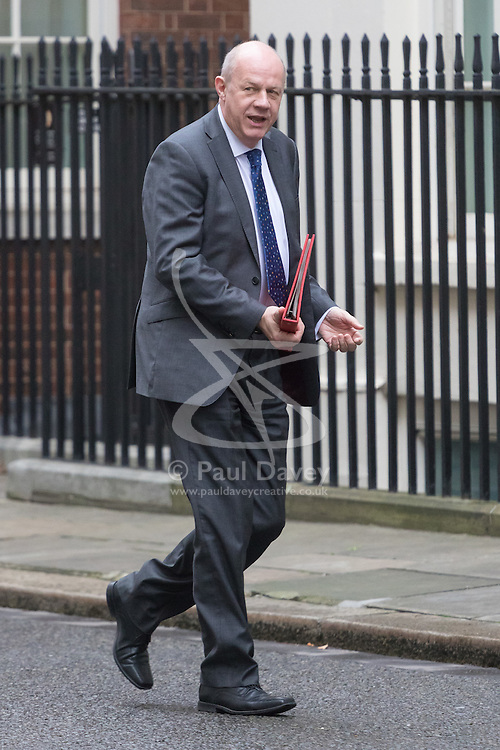 Downing Street, London, February 21st 2017. Work and Pensions Secretary Damian Green attends the weekly cabinet meeting at 10 Downing Street in London.