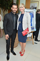 CHARLIE KING and NICKY DONALDSON at the Ben Cohen Stand Up Foundation Gala evening at The Hurlingham Club, Ranelagh Gardens, London on 21st May 2015.