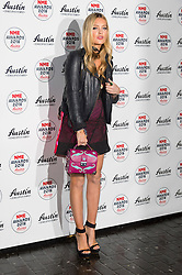 © Licensed to London News Pictures. 17/02/2016. LAURA WHITMORE arrives at the NME Awards 2016 with Austin, Texas.  Previous winners of NME's Godlike Genius Award include Suede, Blondie, The Clash, Paul Weller, The Cure, Manic Street Preachers, New Order & Joy Division, Dave Grohl, Noel Gallagher and Johnny Marr.  London, UK. Photo credit: Ray Tang/LNP
