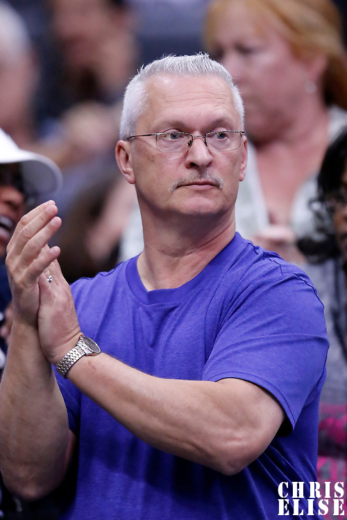 19 June 2014: A fan is seen during the Los Angeles Sparks 87-77 victory over the Tulsa Shock, at the Staples Center, Los Angeles, California, USA.