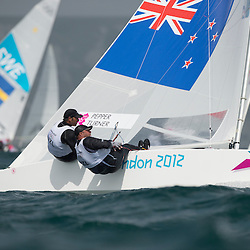 2012 Olympic Games London / Weymouth<br /> Pepper Hamish, Turner Jim, (NZL, Star)