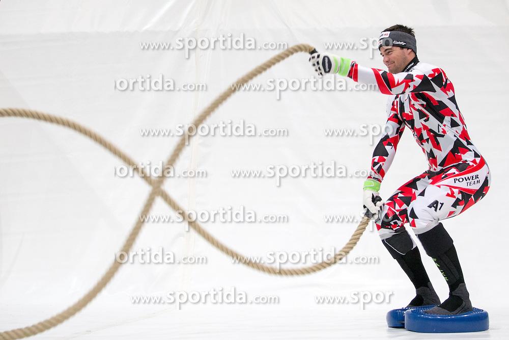 10.10.2015, Olympia Eisstadion, Innsbruck, AUT, OeSV Einkleidung Winterkollektion, während der Einkleidung der ÖSV- Mannschaften am Samstag, 10. Oktober 2015, in Innsbruck, im Bild Vincent Kriechmayr // during the Outfitting of the Ski Austria Winter Collection at the Olympia Eisstadion in Innsbruck, Austria on 2015/10/10. EXPA Pictures © 2015, PhotoCredit: EXPA/ Johann Groder