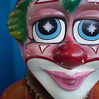 Close up of sad clowns face