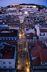 PORTUGAL LISBON MAY99 - View on the Baixa district from the platform on the Elevador Santa Justa.....jre/Photo by Jiri Rezac....© Jiri Rezac 1999....Tel:   +44 (0) 7050 110 417..Email: info@jirirezac.com..Web:   www.jirirezac.com