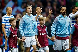 Jack Grealish of Aston Villa (making his first Premier League start) makes his way out onto the pitch - Photo mandatory by-line: Rogan Thomson/JMP - 07966 386802 - 07/04/2015 - SPORT - FOOTBALL - Birmingham, England - Villa Park - Aston Villa v Queens Park Rangers - Barclays Premier League.