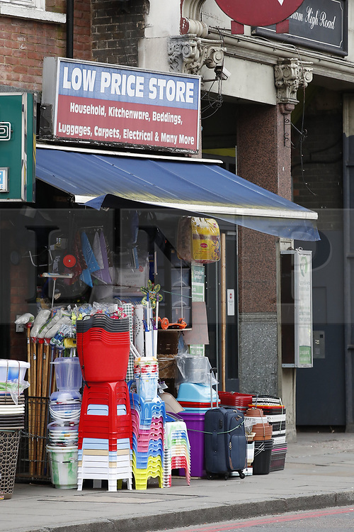 © Licensed to London News Pictures. 03/02/2020. London, UK. The Low Price Store on Streatham High Road the day after a terrorist stabbed two people before he was shot by armed officers. Sudesh Amman, who was released from prison recently for terror offences, was under active police surveillance at the time of the attack - which police think was an Islamist-related terrorist incident. Photo credit: Peter Macdiarmid/LNP