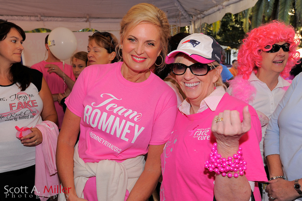 "Ann Romney, wife of U.S. Republican presidential nominee and former Massachusetts Governor Mitt Romney, takes part in the ""Making Strides Against Breast Cancer 5k"" event in Orlando, Florida October 20, 2012...©2012 Scott A. Miller"