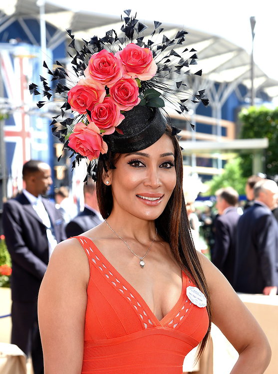 Sophia Hayat attends Royal Ascot Ladies Day at Ascot Racecourse, Ascot, Berkshire on Thursday 18 June 2015
