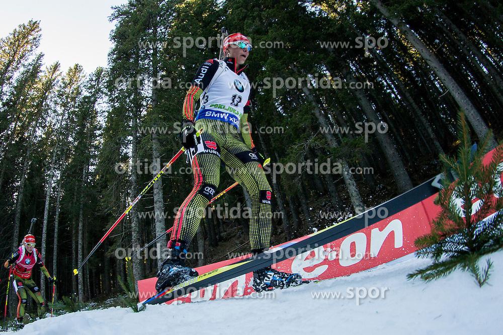 Vanessa Hinz (GER) competes during Women 10 km Pursuit at day 3 of IBU Biathlon World Cup 2015/16 Pokljuka, on December 19, 2015 in Rudno polje, Pokljuka, Slovenia. Photo by Urban Urbanc / Sportida