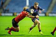 Nathan Fowles (#9) of Edinburgh Rugby is tackled by Tertius Kruger (#12) of Isuzu Southern Kings during the Guinness Pro 14 2018_19 rugby match between Edinburgh Rugby and Isuzu Southern Kings at the BT Murrayfield Stadium, Edinburgh, Scotland on 5 January 2019.