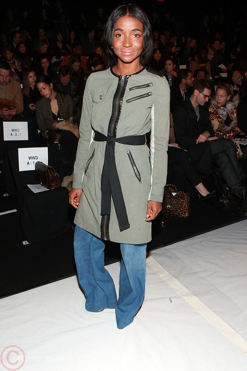 10 February 2011- New York, NY- Genevive Jones , front row at The BCBG Max Azria 2011 Mercedes Benz Fall Fashion Show held at Lincoln Center on February 10, 2011 in New York City. Photo Credit: Terrence Jennings/Ebony.com