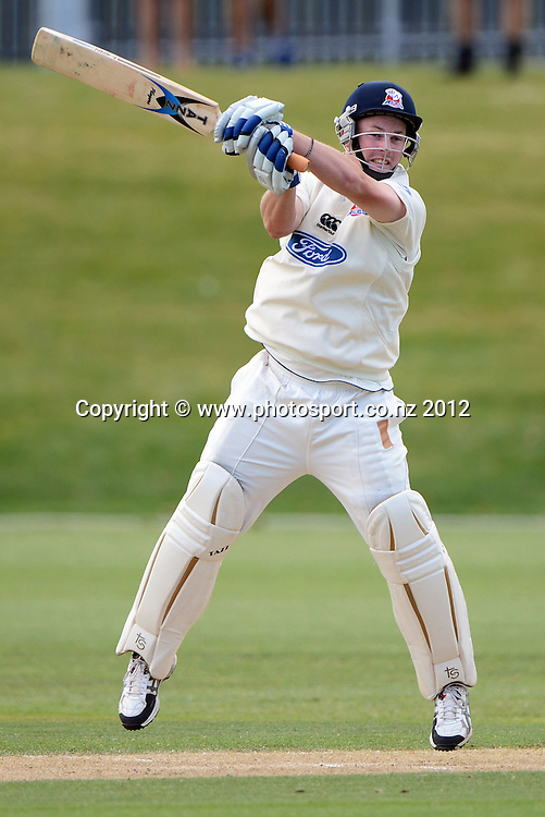 Auckland's Colin Munro batting during his double century. Plunket Shield Cricket, Auckland Aces v Wellington Firebirds at Eden Park Outer Oval. Auckland on Wednesday 28 November 2012. Photo: Andrew Cornaga/Photosport.co.nz
