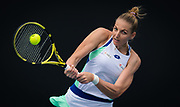 Kristyna Pliskova of the Czech Republic in action during her first round match at the 2020 Australian Open, WTA Grand Slam tennis tournament on January 22, 2020 at Melbourne Park in Melbourne, Australia - Photo Rob Prange / Spain ProSportsImages / DPPI / ProSportsImages / DPPI
