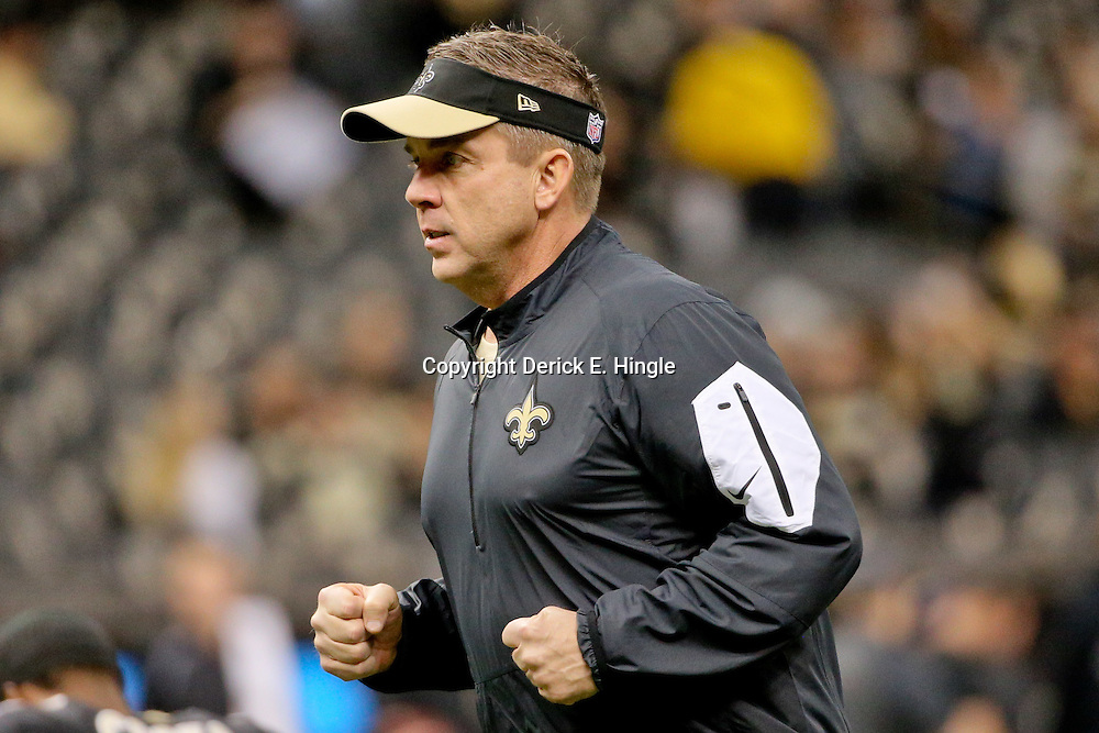 Dec 6, 2015; New Orleans, LA, USA; New Orleans Saints head coach Sean Payton prior to a game against the Carolina Panthers at the Mercedes-Benz Superdome. Mandatory Credit: Derick E. Hingle-USA TODAY Sports