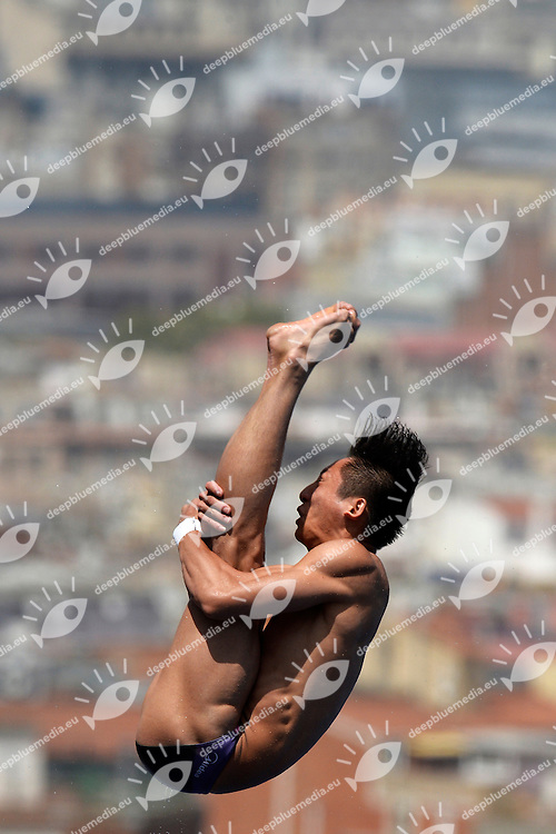 Yue Lin China <br /> Diving Men's 10m Platform - Tuffi Piattaforma 10m Uomini <br /> Barcellona 27/7/2013 Piscina Municipal <br /> Barcelona 2013 15 Fina World Championships Aquatics <br /> Foto Andrea Staccioli Insidefoto