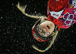 Alexandra Orlova of Russia during the Women's Aerials Qualification at the Sochi 2014 Olympic Games, Krasnaya Polyana, Russia, 14 February 2014.