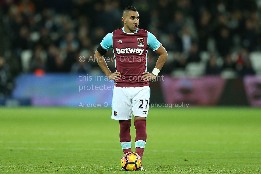 Dimitri Payet of West Ham United .Premier league match, West Ham Utd v Arsenal at the London Stadium, Queen Elizabeth Olympic Park in London on Saturday 3rd December 2016.<br /> pic by John Patrick Fletcher, Andrew Orchard sports photography.