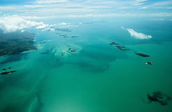 Aerial view of the Buccaneer Archipelgo in the Kimberley wet season
