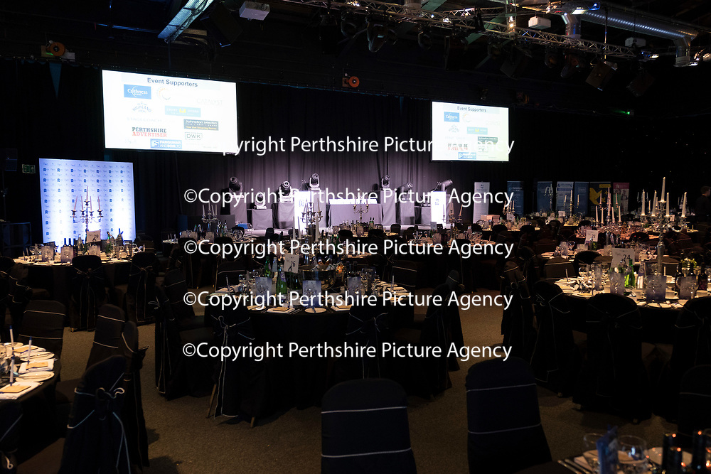 Perthshire Chamber of Commerce Business Star Awards 2017…Crieff Hydro Hotel<br />The room set-up prior to the start of the awards night<br />Picture by Graeme Hart. <br />Copyright Perthshire Picture Agency<br />Tel: 01738 623350  Mobile: 07990 594431