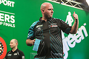 Rob Cross after his first round victory over Robert Owen during the PDC Darts Players Championship at  at Butlins Minehead, Minehead, United Kingdom on 24 November 2017. Photo by Shane Healey.