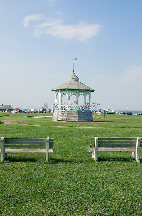Ocean Park band stand and benches, Oak Bluffs, Martha's Vineyard, MA.