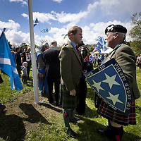 "BRAVEHEART HEROES, WILLIAM WALLACE AND ANDREW DE MORAY, FINALLY HONOURED AT STIRLING BRIDGE BATTLE SITE AS SALTIRE RAISED FOR FIRST TIME IN OVER 700 YEARS<br /> <br /> Friday 29th May, 2015<br /> <br /> IT'S TAKEN more than 700 years but today, the two heroes at the centre of one of the most important battles in Scottish history have been jointly honoured at the spot where they both led an outnumbered Scottish army to victory against the English.<br /> The formal unveiling ceremony at Stirling Bridge today (Friday 29th May), of three lecterns made of traditional Scottish whinstone dedicated to the memory of William Wallace and Andrew de Moray, at site of the historic victory at Battle of Stirling Bridge.<br /> At a special ceremony attended by Andrew de Moray's direct descendant, the Earl of Moray, and Stewart Maxwell, MSP, convener of the Scottish Parliament's Education and Culture Committee, the memorials were formally unveiled.Mr Maxwell opened the event and after the dedication, together with the Earl of Moray, they raised the Saltire together at the site of the Battle of Stirling Bridge. This is the first time in over 700 years that the Saltire has flown at Stirling Bridge. The flag will now become a permanent fixture at the site of the Battle.<br /> John Stuart, the current Earl of Moray, said of his illustrious kinsman: ""I am delighted that Andrew de Moray is finally, after 700 years, to have the recognition he deserves. The Guardians of Scotland have put a huge amount of time and effort into the lecterns, which are a very fitting tribute to one of Scotland's greatest patriots.""<br /> The victory represented a key moment in the Scottish Wars of Independence. Eminent Scots historian, Sir Tom Devine, recently described the battle as being 'second in importance only to Bannockburn in the Wars of Independence'. <br /> It is the first time the two men have been given equal prominence. One stone tells the story of Andrew de Moray while another describes Wallace's role. A third lectern the story of the"