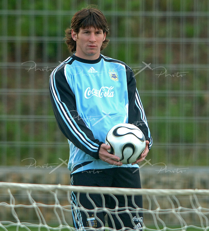 Argentina's forward Lionel Messi during a training session before the FIFA 2006 World Cup Germany's matches, in Herzogenaurach, June 7, 2006.  (Alejandro Pagni / PHOTOXPHOTO)