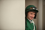 9  April, 2011:  Jockey Carl Rafter waits for the second race at Stoneybrook.