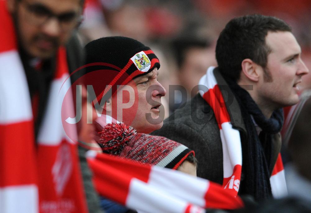 Bristol City fan - Photo mandatory by-line: Dougie Allward/JMP - Mobile: 07966 386802 - 25/01/2015 - SPORT - Football - Bristol - Ashton Gate - Bristol City v West Ham United - FA Cup Fourth Round