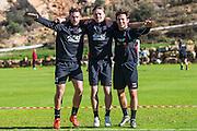 ESTEPONA - 08-01-2016, AZ in Spanje 8 januari, AZ speler Vincent Janssen, AZ speler Ben Rienstra, AZ speler Joris van Overeem