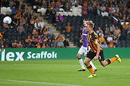 Jarrod Bowen of Hull City scores his sides 2nd goal during the Sky Bet Championship match at the KCOM Stadium, Hull<br /> Picture by Paul Chesterton/Focus Images Ltd +44 7904 640267<br /> 25/08/2017