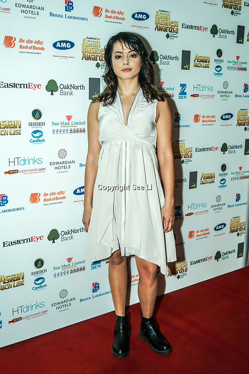 Actress Amrita Acharia - Game of Thrones attands the 2017 Asian Business Awards,London,UK. by See Li