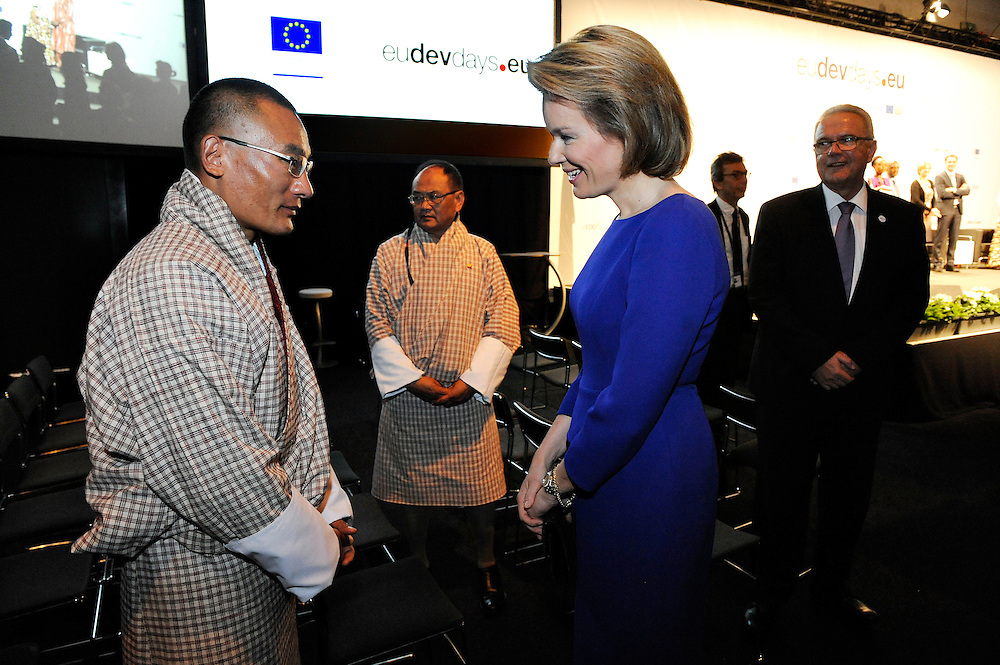 20150604- Brussels - Belgium - 04 June2015 - European Development Days - EDD  - Queen Mathilde of Belgium meets Tshering Tobgay PM Buthan  © EU/UE