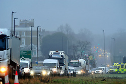 © Licensed to London News Pictures.20/12/2017.<br /> Blackheath, UK.<br /> Misty wet and cold weather on Blackheath Common, Blackheath.<br /> Photo credit: Grant Falvey/LNP