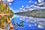 USA, Idaho, Valley County, McCall, Ponderosa State Park, Payette Lake, Huckleberry Bay