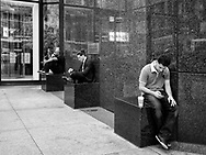 A cell phone break at the IBM building in Midtown Manhattan