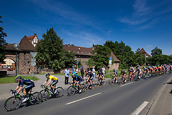 Radsport: 36. Bayern Rundfahrt 2015 / 5. Etappe, Hassfurt - Nuernberg, 17.05.2015<br /> Cycling: 36th Tour of Bavaria 2015 / Stage 5, <br /> Hassfurt - Nuernberg, 17.05.2015<br /> Ziel - Arrival, # 32 Dowsett, Alex (GBR, MOVISTAR TEAM) , Gelbes Trikot Gesamtfuehrender / Yellow Leader Jersey