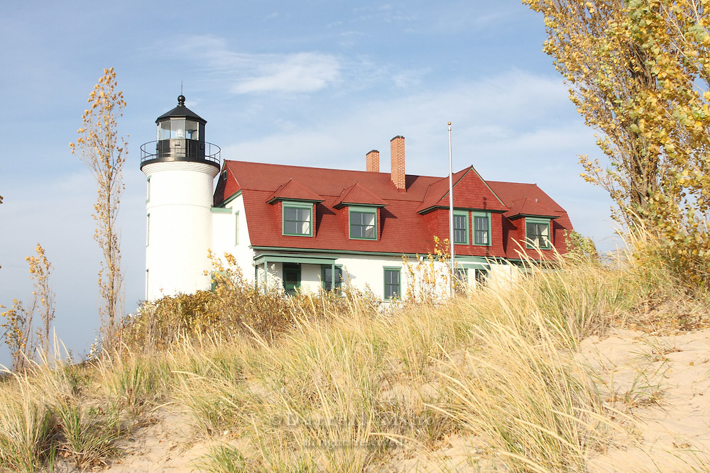 Nov. 05, 2008; Pt. Betsie, MI - Point Betsie Lighthouse on Lake Michigan...Photo credit: Darrell Miho