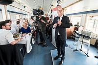 04 JUN 2019, BERLIN/GERMANY:<br /> Olaf Scholz, SPD, Bundesfinanzminister, Spargelfahrt des Seeheimer Kreises der SPD, Anleger Wannsee<br /> IMAGE: 20190604-01-167