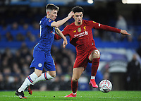 Football - 2019 / 2020 Emirates FA Cup - Fifth Round: Chelsea vs. Liverpool<br /> <br /> Chelsea youngster, Billy Gilmour and Curtis Jones of Liverpool, at Stamford Bridge.<br /> <br /> COLORSPORT/ANDREW COWIE