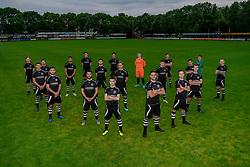 "Photoshoot of the selection 2020-2021, under 23 of VV Maarssen with the Corona rule ""1.5 meters away"" on 16 June 2020, sports park Daalseweide in Maarssen."