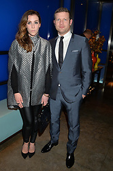 DERMOT O'LEARY and DEE KOPPANG at a dinner hosted by Anya Hindmarch and Dylan Jones to celebrate the end London Collections: Men 2014 held at Hakkasan, 8 Hanway Place, London on 8th January 2014.