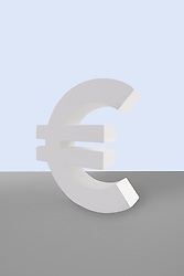 Euro sign on white background (Credit Image: © Image Source/Howard Bartrop/Image Source/ZUMAPRESS.com)